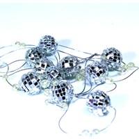 Artte Gümüş 2 Metre Zincirli Disko Topu Yılbaşı Süsü