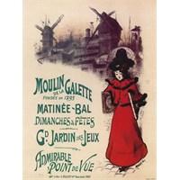 Karton Afiş - Moulın De La Galette 24 X 32 Cm