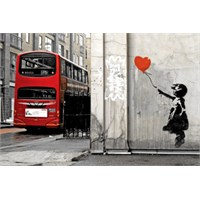 Urbangiftbanksy Balloon Gırl Wıth Bus Photo Magnet 6*9Cm