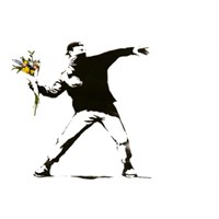 Urbangiftbanksy Flower Thrower Photo Magnet 6*9Cm