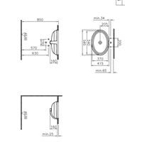 Vitra Efes T.Altı Lavabo 60Cm-Beyaz (Vitra Clean)