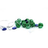 Artte Yeşil 2 Metre Zincirli Disko Topu Yılbaşı Süsü