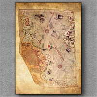 Tablom Piri Reis Haritası Kanvas Tablo