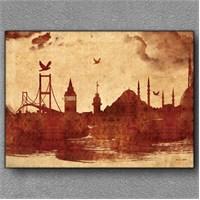 Tablom İstanbul Silüeti Kanvas Tablo