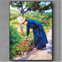 Tablom Bahçedeki Lady Kanvas Tablo