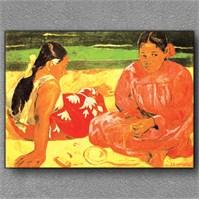 Tablom Sahildeki İki Kadın Kanvas Tablo