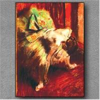 Tablom Yeşilli Dansçı Kanvas Tablo