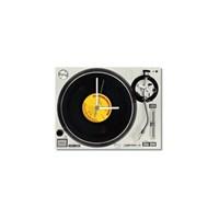Tictac Gerçek 45'Lik Plaklı Pikap Görünümlü Kanvas Saat - Beyaz2