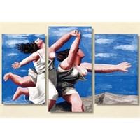 Tictac Picasso - 3 Parçalı Kanvas Tablo