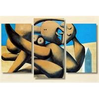 Tictac Picasso3 - 3 Parçalı Kanvas Tablo