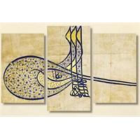 Tictac Tuğra - 3 Parçalı Kanvas Tablo