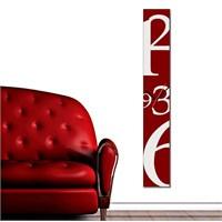 Tictac Dekoratif Kanvas 100 Cm Duvar Saati - Kırmızı