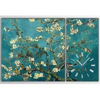 Tictac Van Gogh - 2 Parçalı Asimetrik Kanvas Saat Büyük Boy