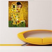 Tictac Klimt Kiss - Kanvas Tablo - Büyük Boy