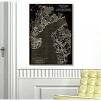 Tictac İstanbul Harita1 - Kanvas Tablo - Büyük Boy