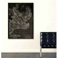 Tictac İstanbul Harita2 - Kanvas Tablo - Büyük Boy