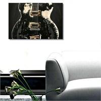 Tictac Siyah Gitar - Kanvas Tablo - Büyük Boy