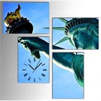 Tictac Özgürlük - 4 Parçalı Kanvas Saat
