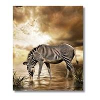 Tictac Zebra - Kanvas Tablo - Büyük Boy