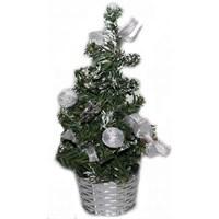 Üzeri Süslü Küçük Boy Masa Ağacı Süsü 20 Cm