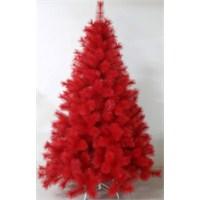 210 Cm İğne Yapraklı Kırmızı Yılbaşı Yapay Çam Ağacı