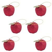 6 Lı Elma Figürlü Çam Ağacı Süsü
