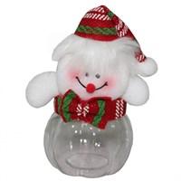 Sevimli Kardan Adam Plastik Şeker Kutusu