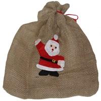 Noel Baba Figürlü Yılbaşı Torbası