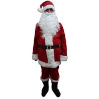 Lüx Noel Baba Kostümü Polar Xl Beden