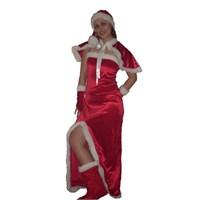 Yılbaşı Kostümü Noel Anne Uzun L Beden