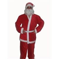 Kadife Noel Baba Kostümü Yetişkin