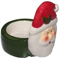 Yeşil Seramik Noel Baba Mumluk
