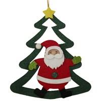 Çam Ağacı Görünümlü Yılbaşı Noel Baba Süsü