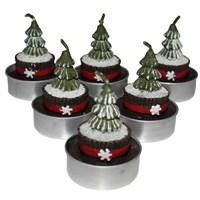 Cupcake Figürlü Çam Ağacı Mumları 6 Adet
