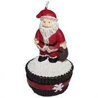 Cupcake Figürlü Noel Baba Yeniyıl Mum