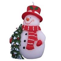 Kırmızı Şapkalı Gülümseyen Kardan Adam Mum