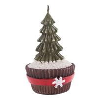 Cupcake Standlı Çam Ağacı Mum