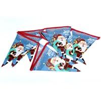 Artte Yılbaşı Noel Babalı Bayrak