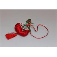 Miss Gaya Lavanta Kesesi Kırmızı Kadife Püsküllü