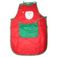 Noel Baba Desenli Kırmızı Mutfak Önlüğü