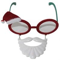 Noel Baba Bıyıklı Sakallı Yılbaşı Gözlüğü