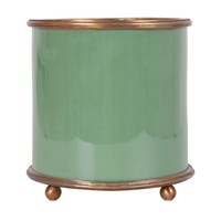 Altıncı Cadde Yeşil Porselen Vazo 20 Cm
