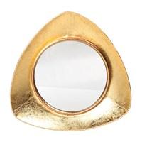 Altıncı Cadde Metal Duvar Aynası Altın Renkli 39 Cm