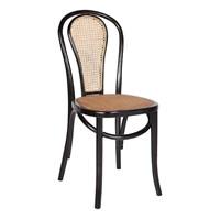Altıncı Cadde Ahşap Sandalye Siyah 44X40x90 Cm