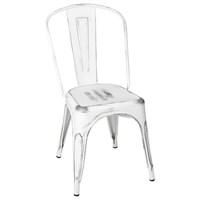 Altıncı Cadde Beyaz Metal Sandalye