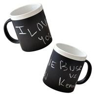 Tebeşirli Kupa ( Chalk Mug ) Siyah