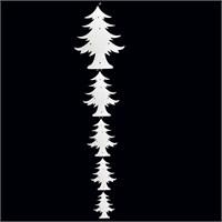 Artte Strafor Sarkık Çam Ağacı 5 Parça