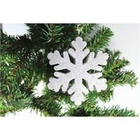 Artte Yılbaşı Ağaç Süsü Kar Tanesi Gümüş Strafor 14 Cm