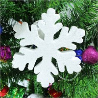 Artte Yılbaşı Ağaç Süsü Kar Tanesi Beyaz Strafor 22 Cm