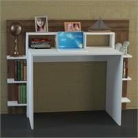 Dekorister Alix Çalışma Masası Beyaz-Ceviz